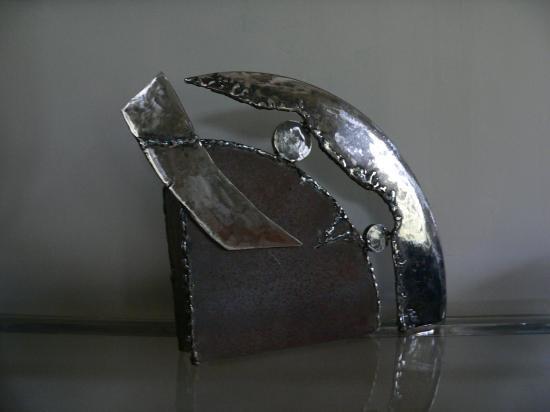 casque lampe metal