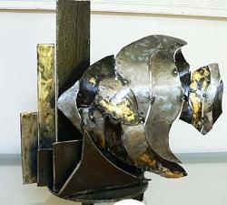 poisson laminaire  lampe metal