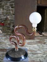 siphon lampe cuivre metal